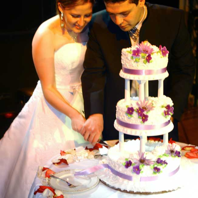 cutting a wedding cake for guests silver cake cutting service catering by mopsie tx 13286